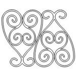 Wrought Iron Set - Simple - 31 Automated Quilting Design - RGS067