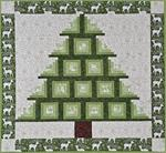 "370002 - Log Cabin Tree - Wall Hanging - 40"" x 38"""