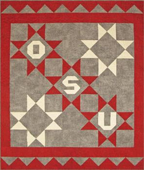 "RGR145 - OSU Star Throw - 82"" x 69"""