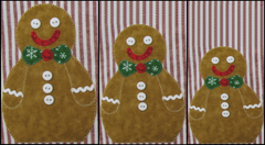 "RGR-P05 - Mesting Gingerbread Men - $5.00 – 9 1/2"" x 5 1/2"" Approx."