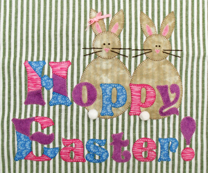 "RGR-P12 - Hoppy Easter – 9 1/4"" x 7 1/2 "" Approx."