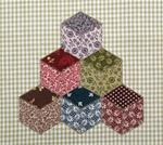 682P17 - Tumbling Blocks Applique - 6 1/2 in. x 6 1/2 in.