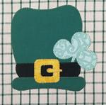 675P24 - Irish Hat & Clover - 5 1/2 in. X 5 1/2 in.