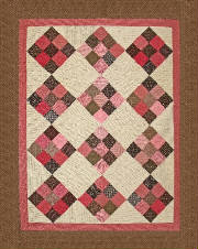RGR068 - Charming 9 Patch $8.00 - Throw to King
