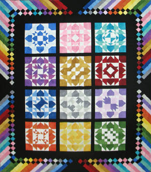 Quilt of Many Colors (RGR112)- $12.00 - Double-Queen and King