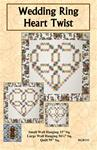 402153 - Wedding Ring Heart Twist -  Small Wall Hanging 33 in. Sq, / Large Wall Hanging 56 1/4 in. Sq. /  Quilt 95 in. Sq.
