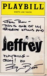 """Jeffrey"" - Signed Playbill"