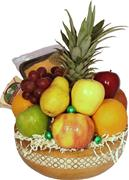 Deluxe Fruit Basket/Bamboo Inlay Salad Bowl Gift- Natural