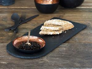 Hammered Copper and Slate Serving Platter
