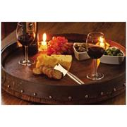 WINE BARREL LAZY SUSAN WINE SERVER  (Quarter Barrel)