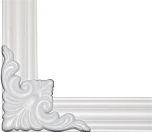 MirrEdge DIY Mirror Framing Kit - (Up to 75 in. x 36 in. ) Dove White Decorative