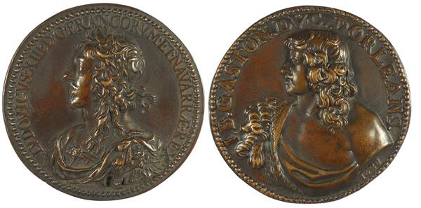 1638, France. LOUIS XIII AND JEAN BAPTISTE GASTON, DUKE OF ORLEANS.