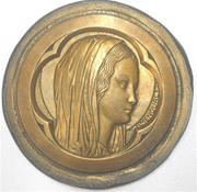 "Amengual: THE VIRGIN MARY. Studio cast (large, about 5 1/2"" in diameter)"