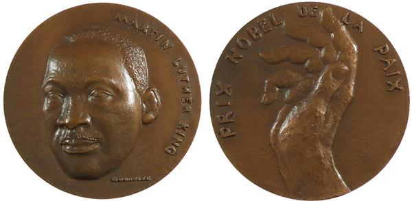 1969 (edge stamp). U.S.A. MARTIN LUTHER, NOBEL PEACE PRIZE WINNER