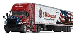 1/64 DCP Freightliner cascadia Cr England military honored veterns edition