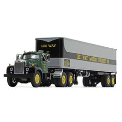 1/64 1st Gear Mack b model w 40ft trlr lee way