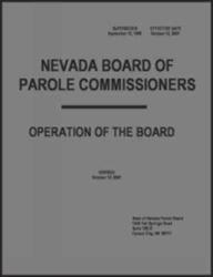 Nevada Board of Parole Commissioners - Operation of the Board