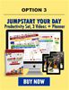 Jumpstart Your Day Productivity Set, 3 Training Videos  Plus The Jumpstart Booster  Planner  Set Option 3