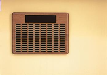 Airflyte Roster Series, American Walnut With Brass Plates