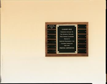 Airflyte Plaque Collection, 12 black brass plates