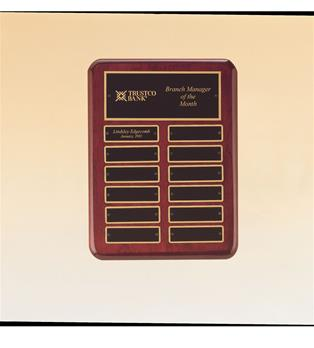 Airflyte Plaques, Furniture Finish American Walnut, Perpetual Plaque