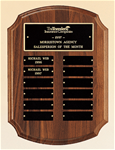 Airflyte Plaque Collection, Solid American Walnut w/ plates