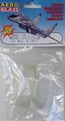 CLEAR PLASTIC CANOPY FOR FM DEWOITINE D-520 AND MORANE SAULNIER 406 SCALE 1/33