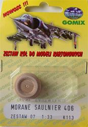 WHEELS FOR MORANE SAULNIER 406 SCALE 1/33