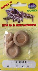 WHEELS FOR F-1 TOMCAT SCALE 1/33