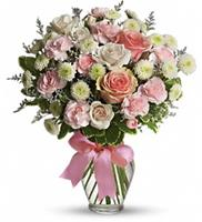Pink and White Bowed Vase