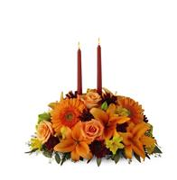 Fall Centerpiece with Candles Deluxe
