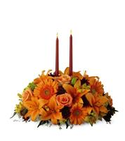 Fall Centerpiece with Candles Premium