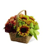 Fall Basket Arrangement with Ribbon Premium