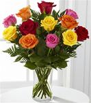 12 Mixed Colored Roses