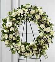 Best of the Season Standing Wreath White