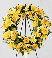 Best of the Season Standing Wreath Yellow