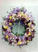 Best of the Season Standing Wreath Mixed Flowers