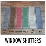 "Set of Window Shutters 9"" x 36"""