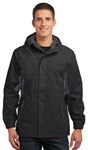 Black/Magnet Grey Port Authority Waterproof Rain Jacket