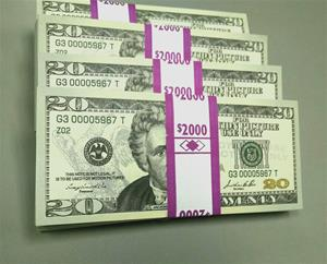 BUY $2K, Full-Print $20 Bills, NEW Style, Front & Back, Standard-Grade