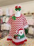 0016 Girls Knit Chevron Santa