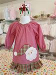 00064 Girls Santa face Dress