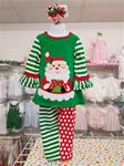 00062 Girls green/red/white Santa pant set