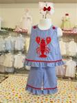 00002h1 2pc Crawfish Capri Set set