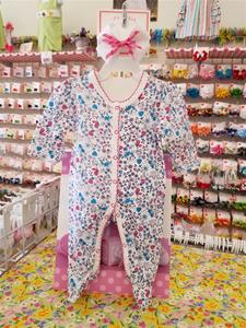 00017 Girls cotton 1 pc with feet