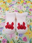 00036B Crab Booties: Size 0-3 Months