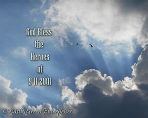 God Bless the Heroes of 9-11 (Clouds)