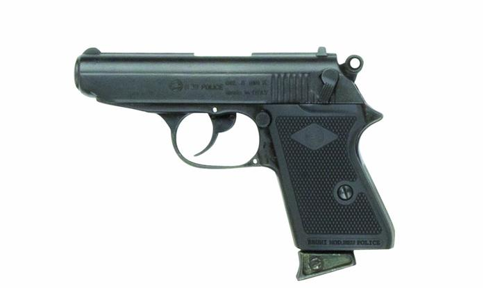 Replica James Bond Style Black 9MM Blank Firing Automatic Gun