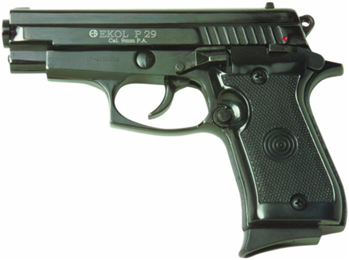 P29 Semi Automatic Blank Firing Pistol Black Finish