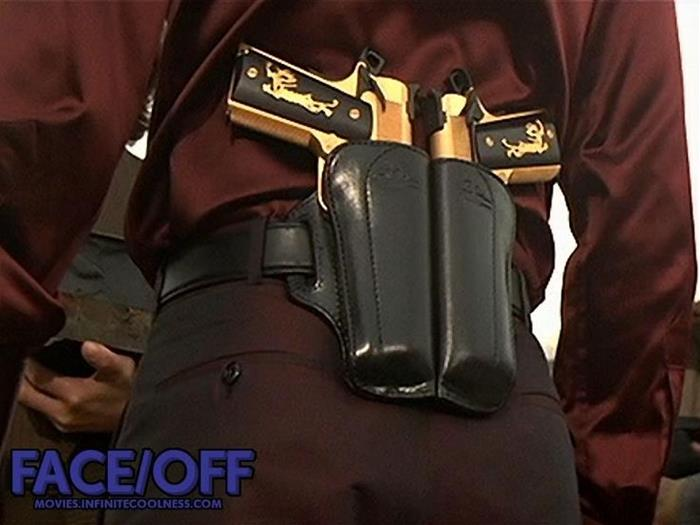 Pair of Face-off guns with double Holster